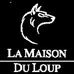 Logo Maison du Loup, png, white