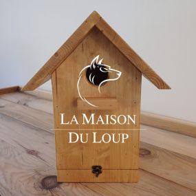 Vogelhaus für kleine Vogelarten aus Massivholz - Maison du Loup
